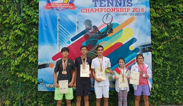 Теннисисты Таджикистана выиграли пять медалей в Малайзии
