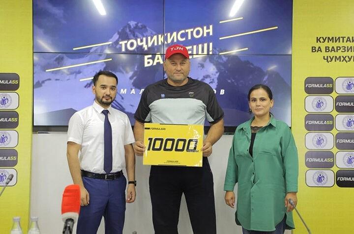 «Formula 55» в рамках проекта «ТОҶИКИСТОН БА ПЕШ!» поддержала паралимпийца Акмала Кодирова