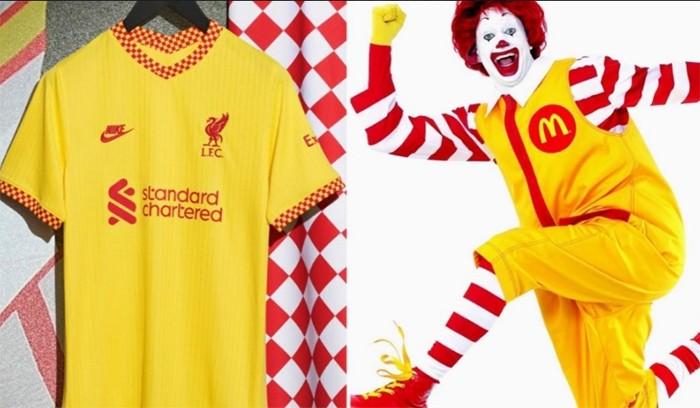 «Макдоналдс» пошутил над третьим комплектом формы «Ливерпуля»